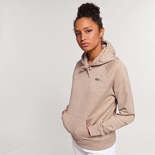 Vegan Hoodie with subtle vegan logo from Vegan Happy Clothing - Stella Trigger hoodie in heather sand