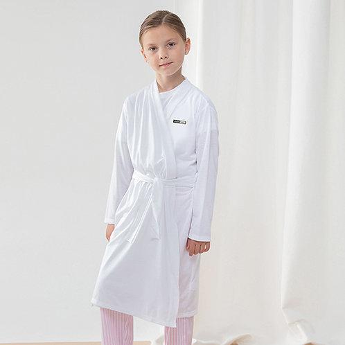 Vegan Kids Robe with subtle vegan logo from Vegan Happy Clothing