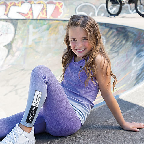 Vegan Gymwear Kid's Seamless Ombré Workout Leggingsvegan workout and sports wear for kid's