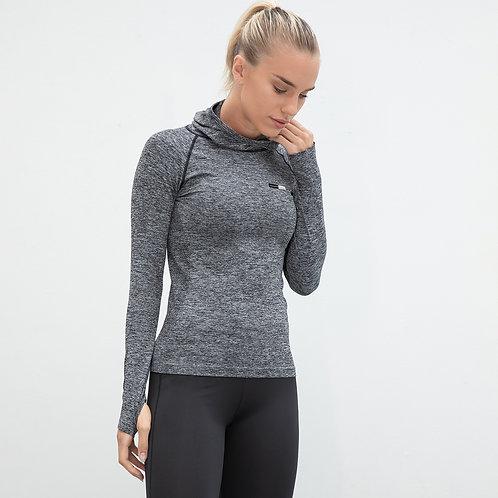 Vegan Women's Seamless Workout Hoodie
