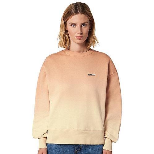Vegan Radder Dip Dye Unisex Sweatshirt with subtle vegan logo from Vegan Happy Clothing