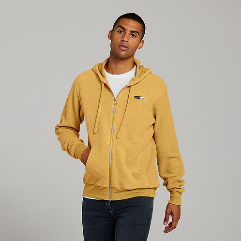 Vegan Hoodie zip-up sueded fleecy hoodie in 4 colours with subtle vegan logo from Vegan Happy Clothing