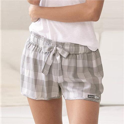 Vegan Women's Loungelite Shorts with vegan subtle logo to the hem from Vegan Happy Clothing
