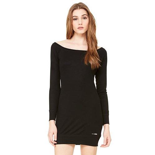Vegan Women's Lightweight Sweater Dress with subtle vegan logo from Vegan Happy Clothing in 2 colours