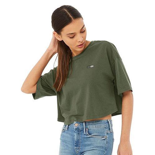 Vegan Women's Fashion Jersey Cropped Tee