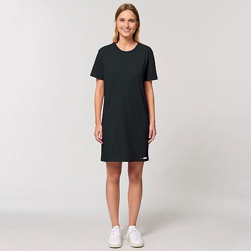 Vegan dress, vegan women's dress in black 100% cotton from Vegan Happy Clothing