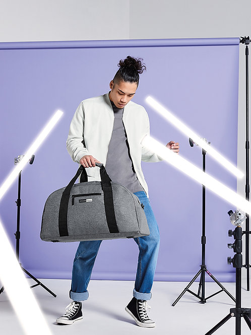 Vegan Classic Holdall with subtle vegan logo from Vegan Happy Clothing