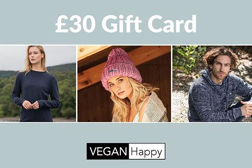 VEGAN Happy - GIFT CARD £30