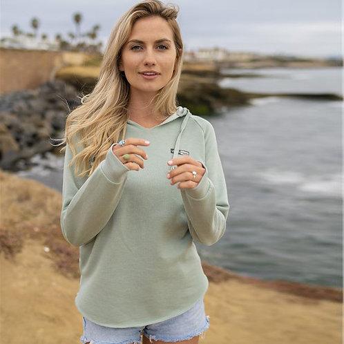 Vegan Women's Lightweight California Wave Wash Hoodie