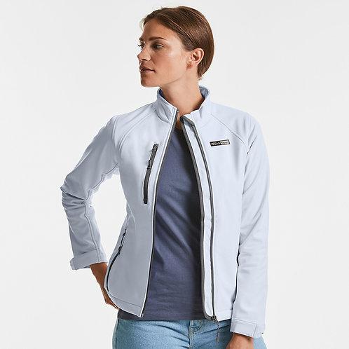 Vegan Women's Women's 21 Softshell Jacket with subtle vegan logo from Vegan Happy Clothing