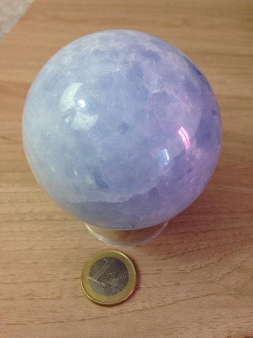Sphère de Calcite Bleue