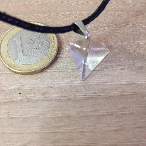 Pendentif Tétraèdre en Cristal de Roche