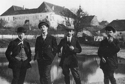 Искандар Рамеев (слева) во время учебы в Германии. 1913 г. Iskander Rameev (L) during his studies in Germany. 1913