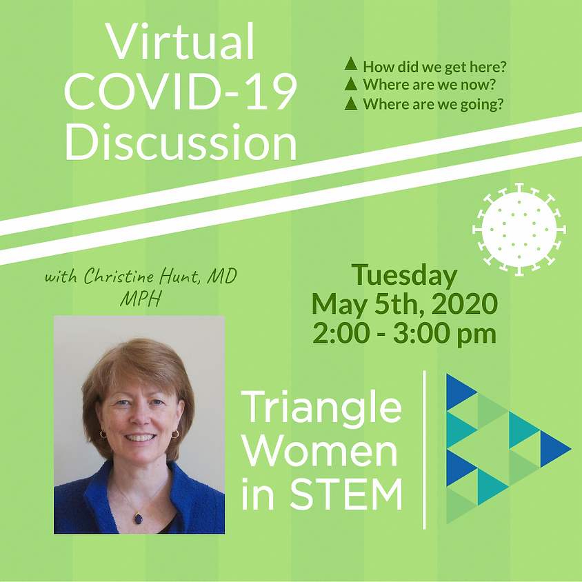 Virtual discussion of COVID-19 with Christine Hunt, MD MPH