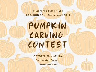 Potluck & Pumpkin Carving Contest!