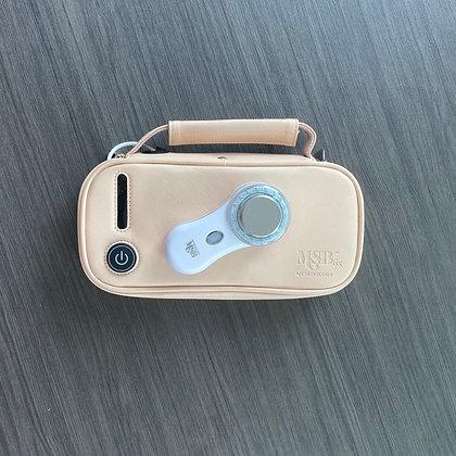 MYSKINBUDDY 6x Sanitize & Glow UV Sterilizer Cosmetic Bag, Nude