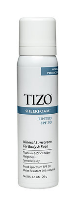 TIZO Sheerfoam Body & Face Sunscreen Tinted SPF30