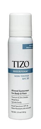 TIZO Sheerfoam Body & Face Sunscreen Non-Tinted SPF30