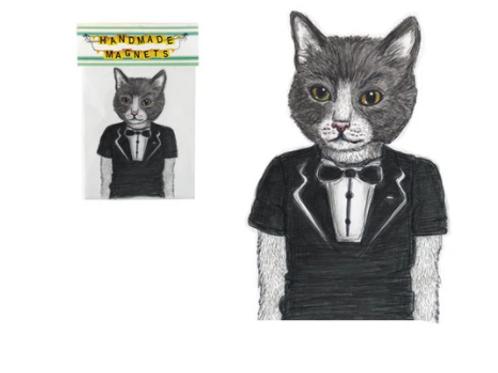 Andrea Hooge - Tuxedo Cat Magnet