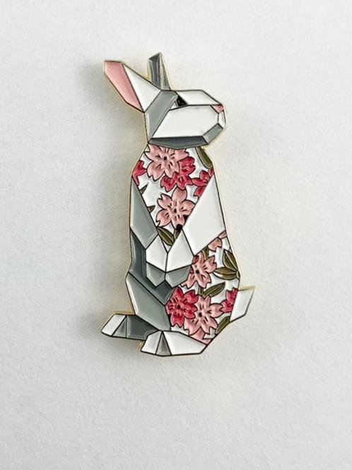FoldIT Creations - Enamel Origami Rabbit Pin