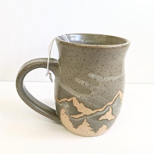 Prairie Willow Pottery - Taupe Mountains Mug