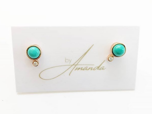 Jewelry By Amanda - Turquoise Stud Earrings