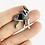 Thumbnail: FoldIT Creations - Enamel Origami Boston Terrier Pin