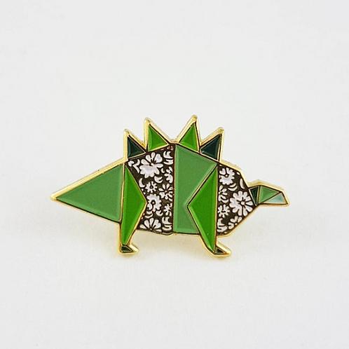 FoldIT Creations - Enamel Origami Dinosaur Pin