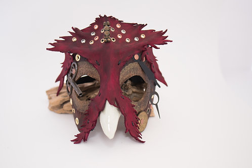 Karmyc Designs - Leather Cosmic Owl Mask