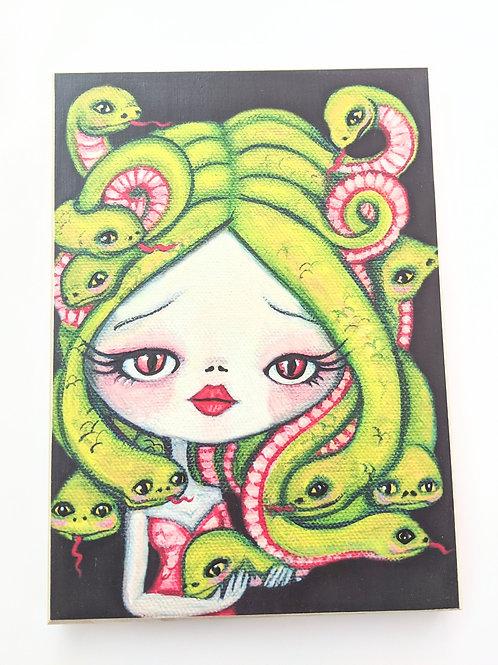 The Poppy Tree - Medusa Print on Wood