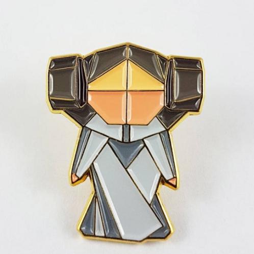 FoldIT Creations - Enamel Origami Leia Pin