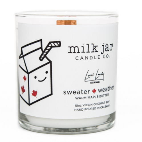 Milk Jar Candle Co. - Sweater Weather Candle