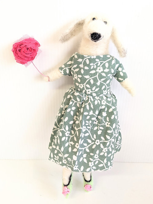 Rare Bird - Dressy Dog Soft Sculpture