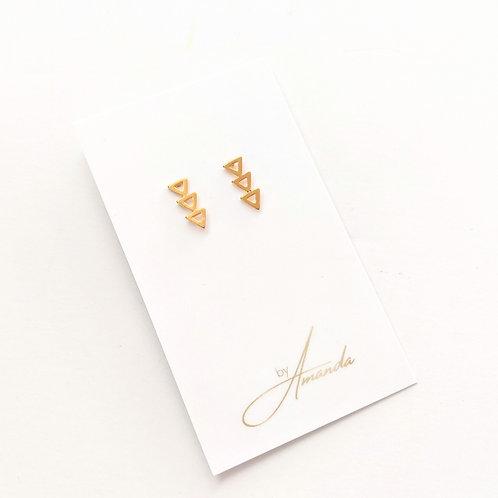 Jewelry By Amanda - Gold Geo Studs