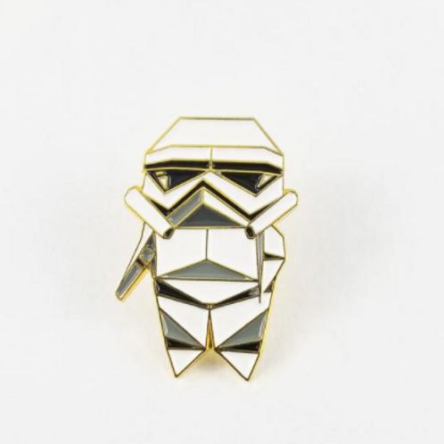 FoldiT Creations - Enamel Origami Storm Trooper Pin