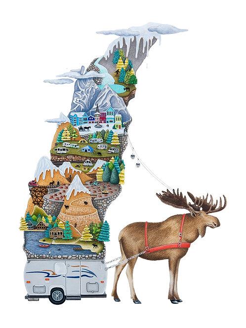Brandy Masch - Moose Print