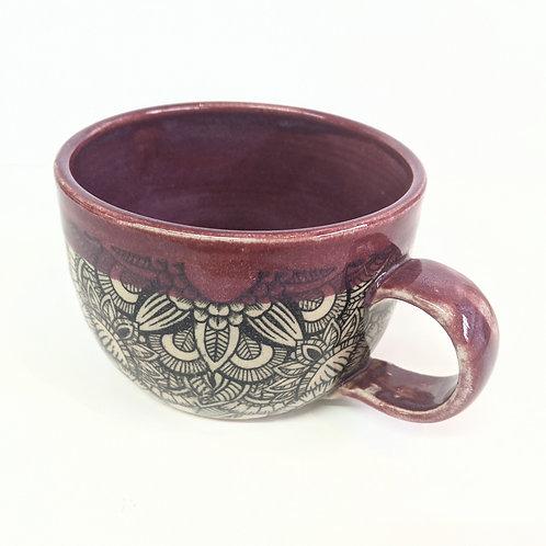 Mowbray Pottery - Purple Mandala Mug