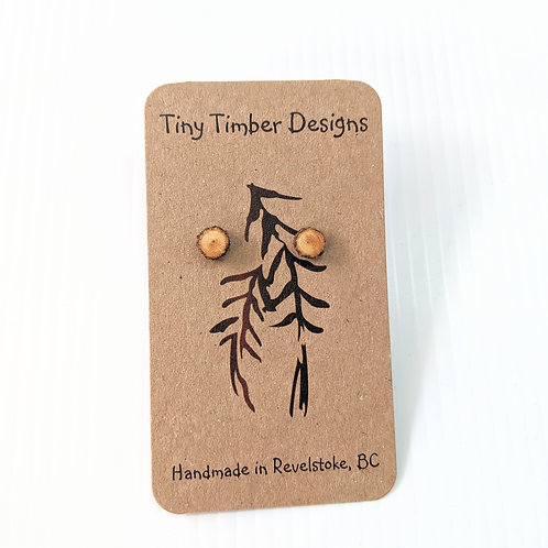 Tiny Timber Designs - Wooden Stud Earrings