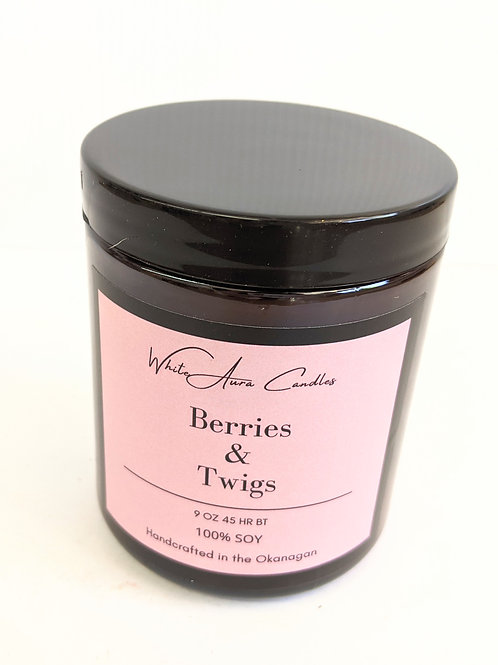 White Aura Candles - Berries & Twigs Candle