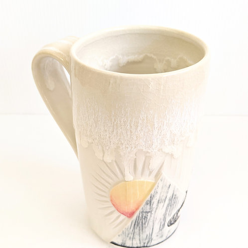 Lisa Martin Pottery - Tall Cream Mountain Mug