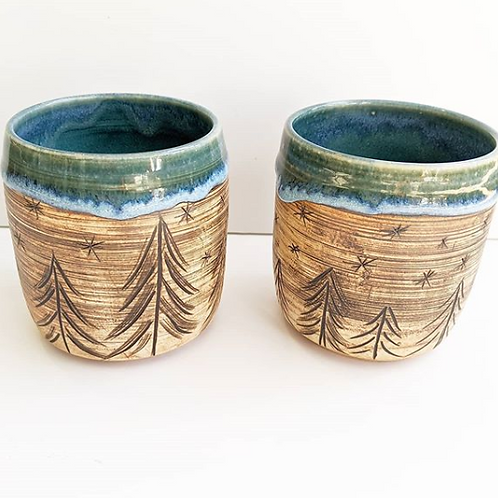 Restless Winds Pottery -  Single Tree Tumbler