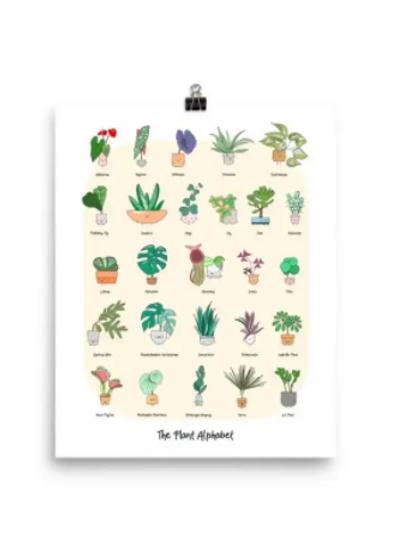 Home By Faith - 'The Plant Alphabet' Print