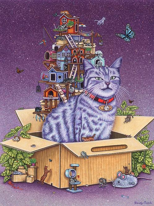 Brandy Masch - Cat in the Box Print