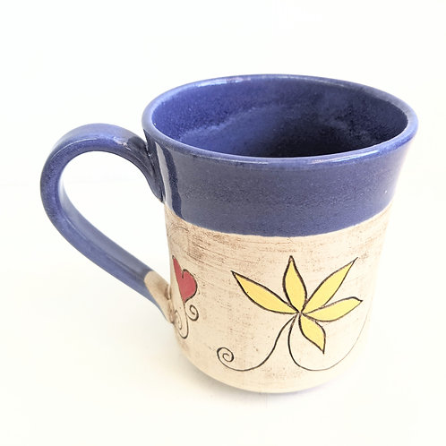 Restless Winds - Blue Vine Mug