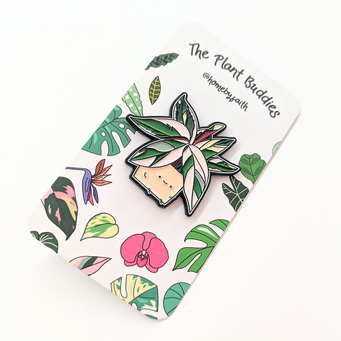 Home By Faith - Enamel Stromanthe Plant Buddy Pin