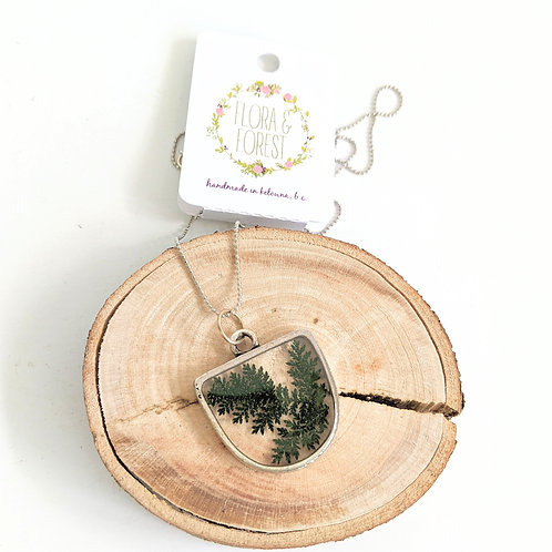 Flora and Forest - Silver Fern Necklace