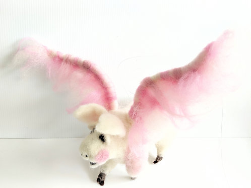 Rare Bird - Pearl the Flying Pig Soft Sculpture