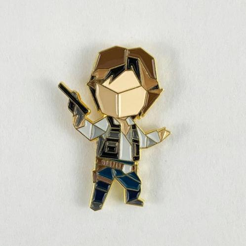 FoldIT Creations - Enamel Origami Han Solo Pin