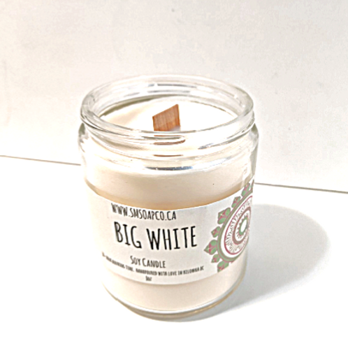 SM Soap Co. - Big White Soy Candle