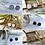 Thumbnail: Cat D.esigns - White Druzy Stud Earrings
